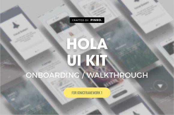 Hola UI Kit - Ionic 1 Theme by Pinro on @creativemarket