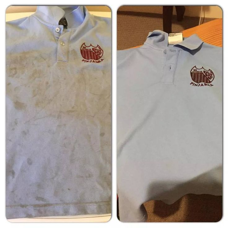 How's this for a before and after pic thanks to Rachel! She made a paste with the Pre Wash Soaker, gave it a rub then soaked it for a few hours, washed and the shirt has come up like new again.  So good to have a safe and natural alternative to Napisan. To order, visit www.nat.trinature.com. #PreWashSoaker #lovetrinature