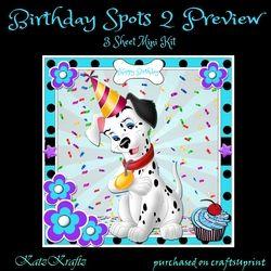 Birthday Spots 2 Mini Kit on Craftsuprint - View Now!