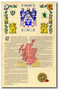 Armorial History with Coat of Arms | Roy (Scottish origin) | $16.95 | https://www.houseofnames.com/product/Armorial+History+with+Coat+of+Arms