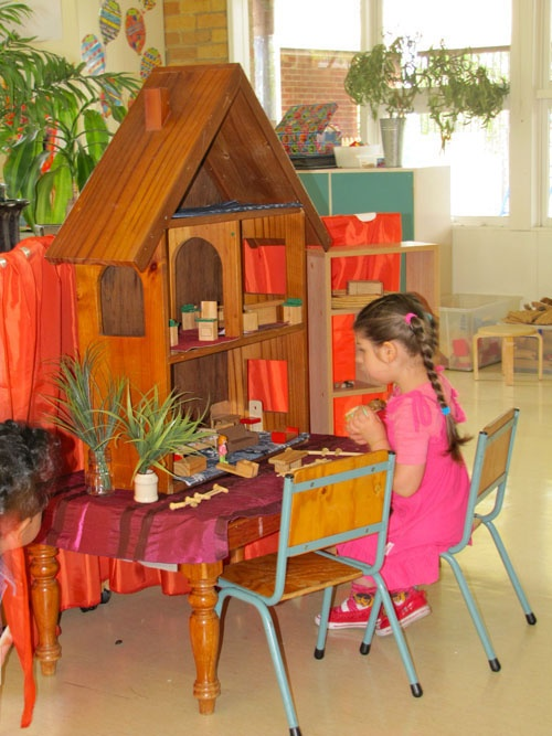 Dolls house up on a table top! Irresistible Ideas for play based learning