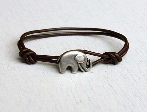 Elephant Leather  BraceletElephant Bracelets, Style, Birthday Gift, Gift Ideas, Colors, Elephant Leather, Jewelry, Accessories, Leather Bracelets