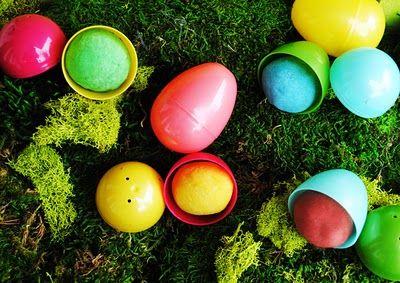 Homemade Playdoh Filled Easter Eggs