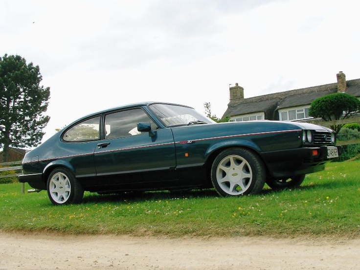 Ford Capri 280 Brooklands, nice retro set of wheels. Would still love to own one, slide into a nice pair of brown flared slacks & polo neck sweater with a spot of Young MC on the stereo :-)