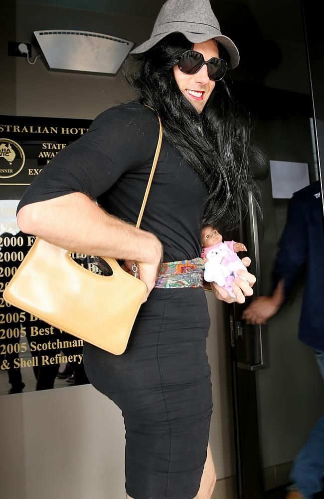 Tom Lonergan as Kim Kardashian at Geelong's Wacky Wednesday Celebrations, 2014.