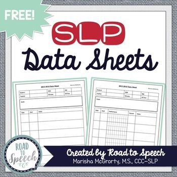 Speech therapy data sheets for individual students and groups! Fully editable!I created three types of data sheets for you:1. Narrative Style: This data sheet has nice big boxes for you to write lots of notes on your sessions. One version includes a goal box (page 4) and one doesnt (page 5).2.