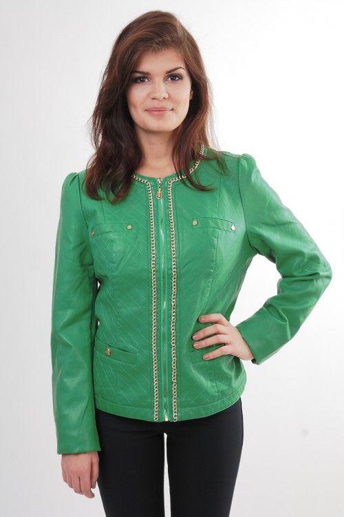 Куртка 5004 Размеры: 52 Цвет: зеленый Цена: 1650 руб.  http://optom24.ru/kurtka-5004/ #одежда #женщинам #куртки #оптом24