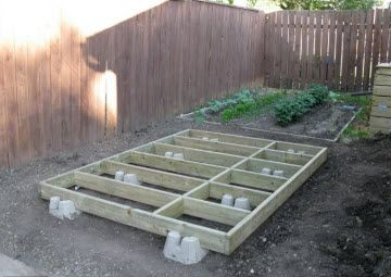#shed #backyardshed #shedplans Shed foundations. Learning that I need to use more blocks for stronger support.