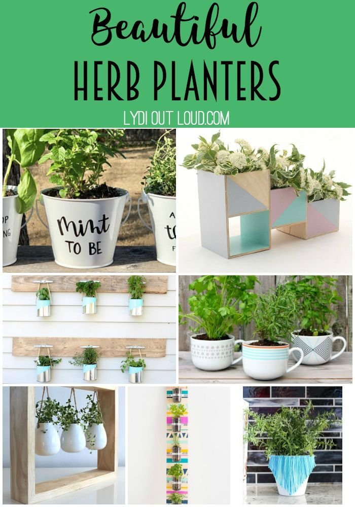20 Amazingly Creative Herb Planters Herb Planters Planters Herbs