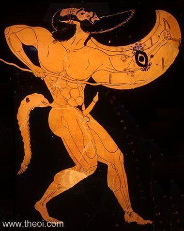 Warrior Satyr   Greek vase, Athenian red figure amphora Museum Collection…