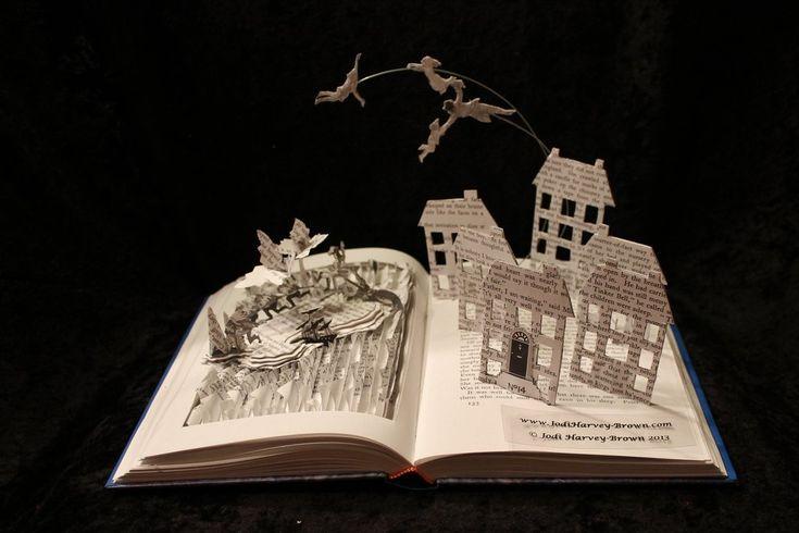 Peter pan book sculpture by wetcanvas viantart on