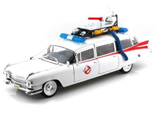 1959 Cadillac Ambulance ECTO-1 From Ghostbusters Regular Edition 1/18 White @ niftywarehouse.com #NiftyWarehouse #Geek #Horror #Creepy #Scary #Movies