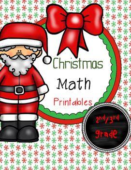 Christmas homework packet first grade