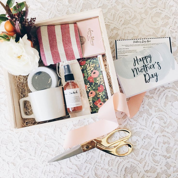 Make a gift box for your mom this Mother's Day and fill it with tons of homemade goodies.