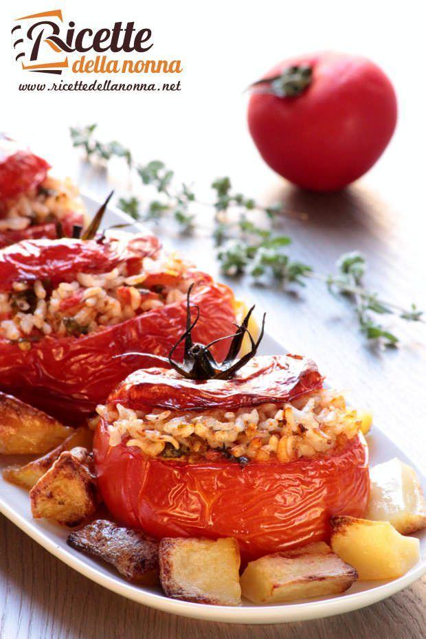 Pomodori ripieni con il riso ricetta e foto