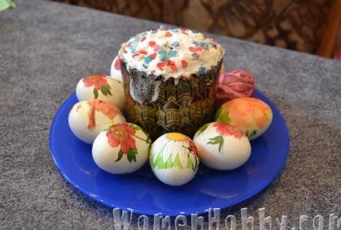 decoupage Easter eggs DIY (Декупаж пасхальных яиц МК)