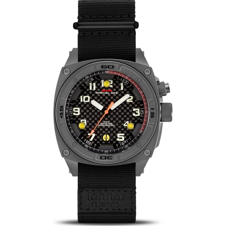 MTM Special Ops Titanium Falcon Watch | Gray/Black Nylon