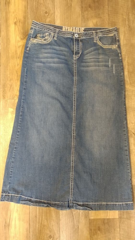 b24bd7d76 maurices hydraulic brand long straight denim skirt good condition size 16  #fashion #clothing #shoes #accessories #womensclothing #skirts (ebay link)