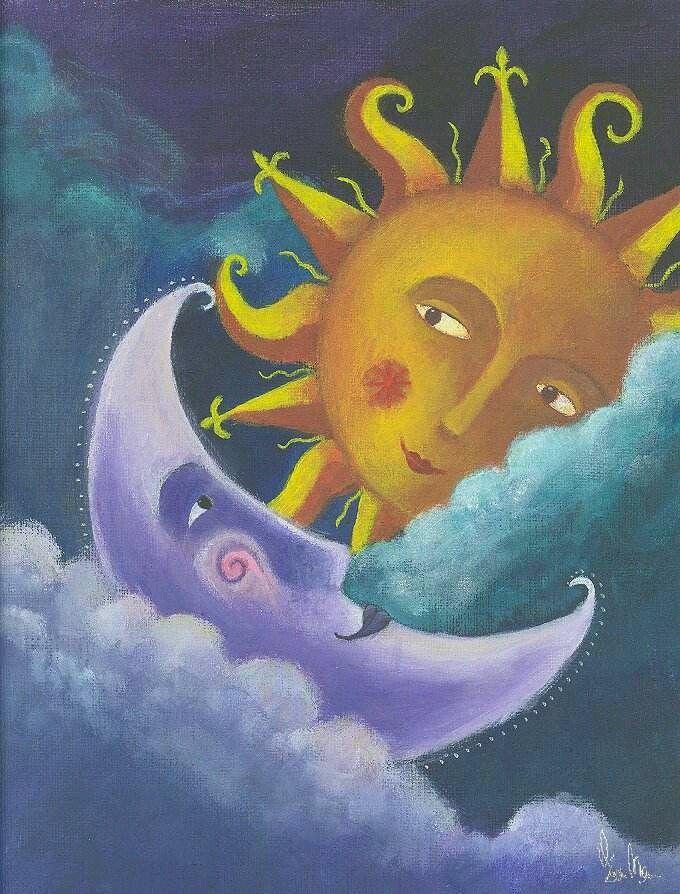 Картинки на тему луна и солнце