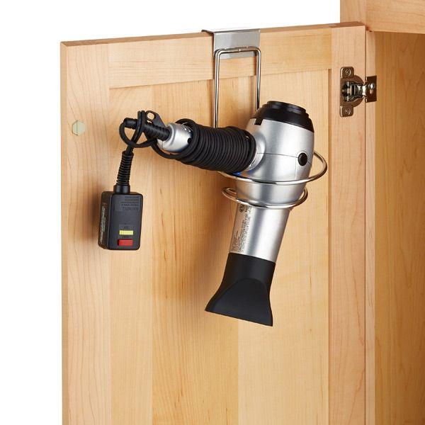 Large Overcabinet Hair Dryer Holder Chrome                              …