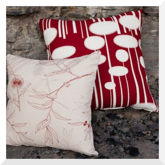 Bird Textiles & Ink & Spindle fabric cushions