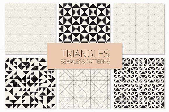 Triangles. Seamless Patterns. Set 4 - Patterns