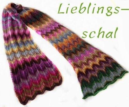 Schal stricken im Zickzack - Muster, Kostenlose Anleitung www.meinefabelhaftewelt.de