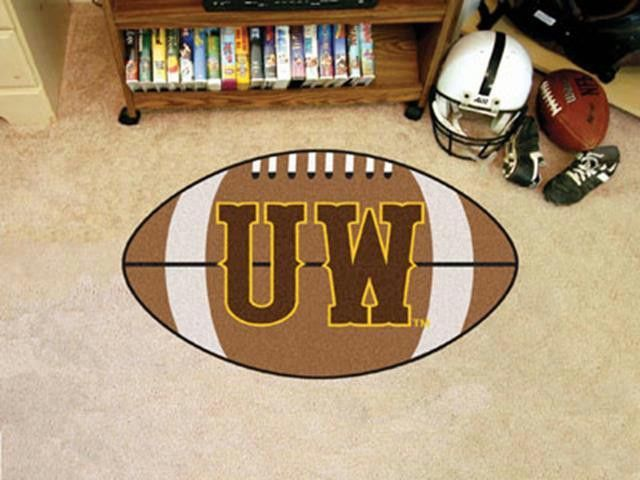 FanMats University of Wyoming Football Rug 22x35