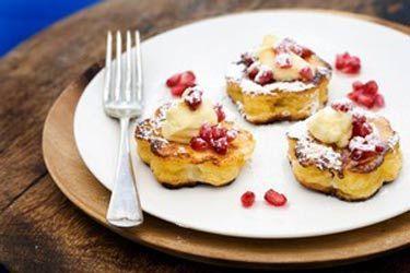 Brioche french toast mascarpone and pomegranate