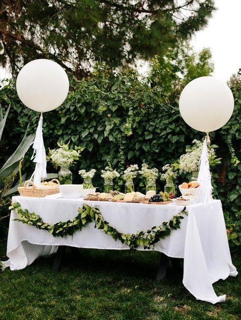 DIY all white bridal shower - garden bridal shower - greenery decor + bridal shower {DIY Network}