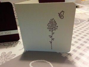 Minikaartje met Flowering Fields Sale-a-bration set Stampin Up