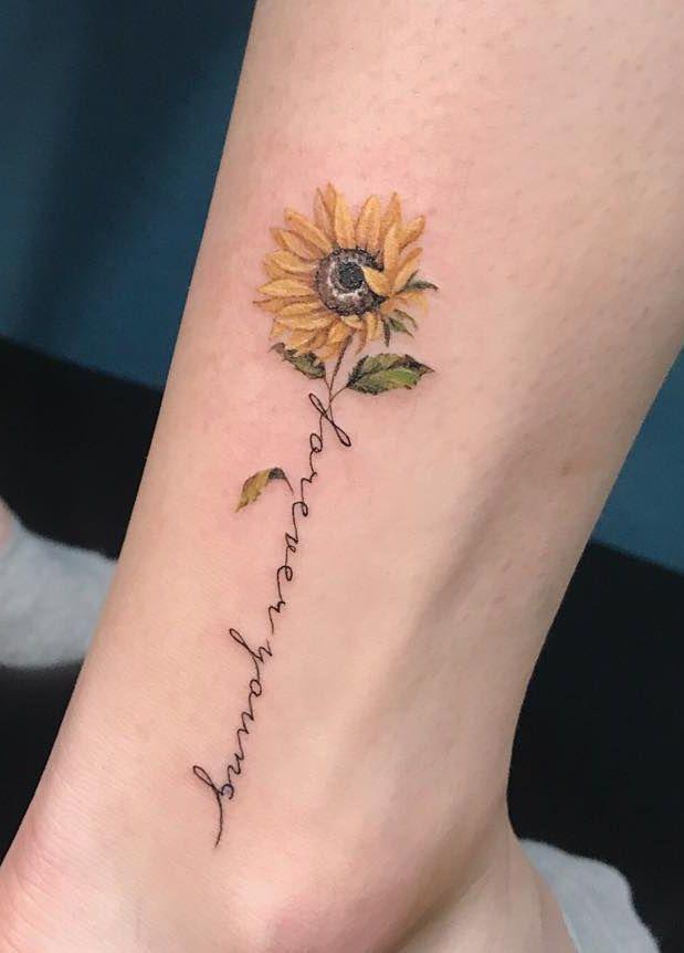 40+ Sunflowers Tattoos Design Ideas for Women
