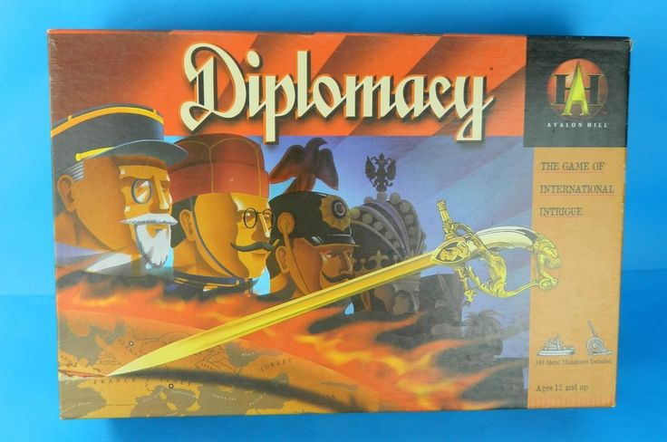 Unused Diplomacy Board Game Vtg 1999 Avalon Hill 41307 Complete Pieces Unpunched #Hasbro