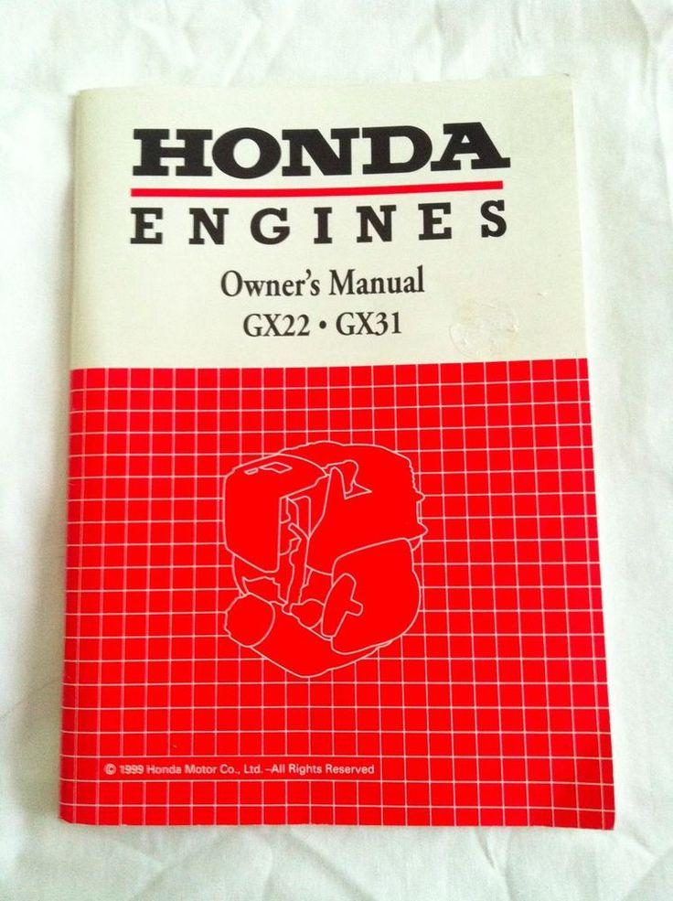1999 Honda Motors Co Ltd Engine Owner's Manual GX22 GX31Illustrated | eBay Motors, Parts & Accessories, Manuals & Literature | eBay!