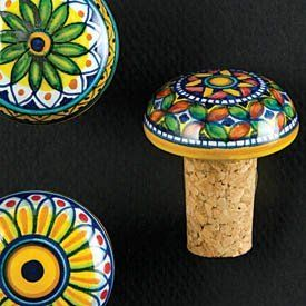Italian Ceramic Wine Cork by Italian Deruta Ceramics. $25.00. In the Deruta studio of Gialletti Giulio, bins of glorious color and diverse patterns attracted our attention during our recent buying trip. As we sorted through a treasure trove of seemingly unending design options in the assortment of Vario Wine Corks, the name for these lovely little accessories quickly became self-evident. With no two corks painted quite the same and countless design and color options available,...