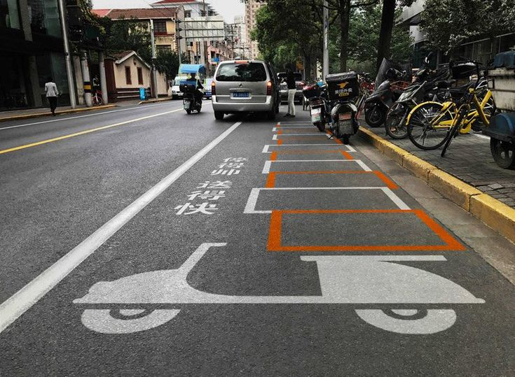 Architects Design Creative Road Graphics For Pedestrians Motorcycles And Bikes In Shanghai Pedestrian Road Signage Shanghai