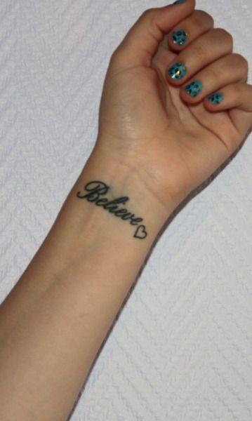 believe tattoo   Tumblr