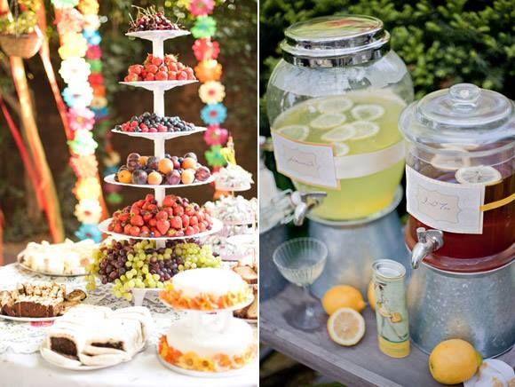 si tu evento es un desayuno o almuerzo puedes presentar esta mesa con una gran wedding