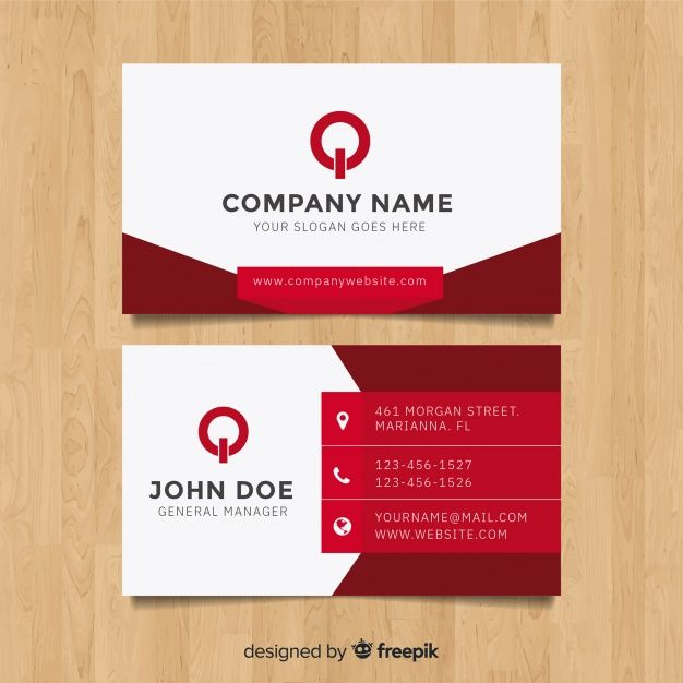 Download Modern Business Card Template With Flat Design For Free Graphic Design Business Card Modern Business Cards Business Card Template