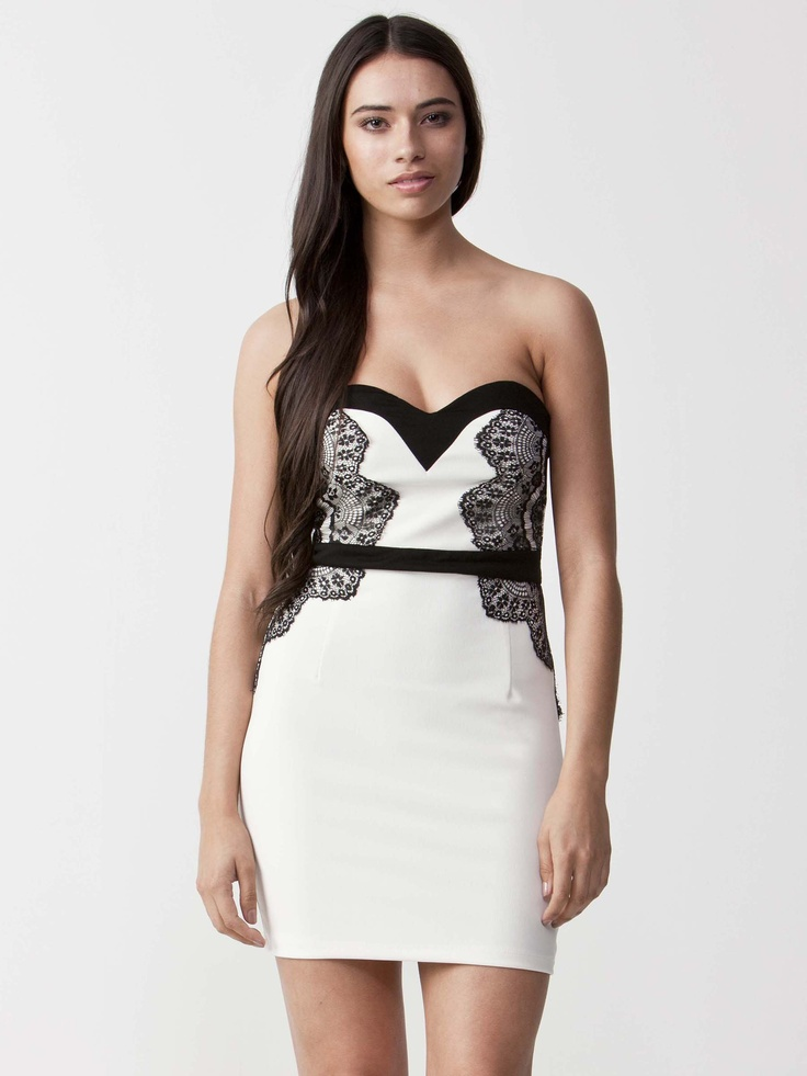 Karina - Delicate Evening dress with heart neckline.  Exquisite embroidery styling with tapered waistline.  Exposed back zip and slim fit design. $71.50
