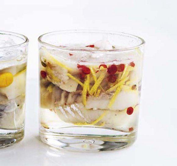 Rosépeppar- och citronsill   Recept.se