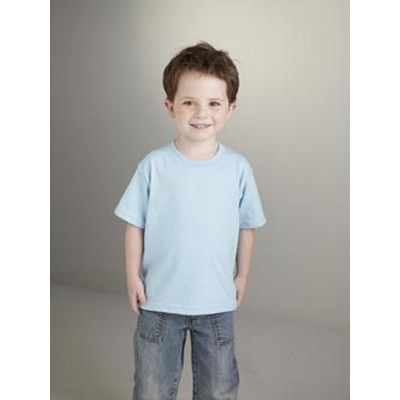 Toddler Cotton T-shirt Coloured Min 25 - A shirt that has a quarter-turned body to eliminate centre crease. http://www.promosxchange.com.au/toddler-cotton-tshirt-coloured/p-8449.html