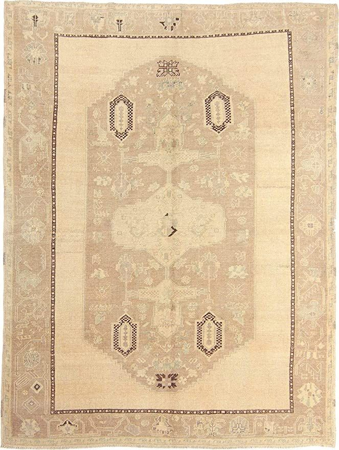 Anatolia Rugs Traditional Collection Turkish Handmade Medallion Design Wool Hand Knotted Washable 6 10 Quot X 8 Medallion Design Woven Rug Hand Knotted