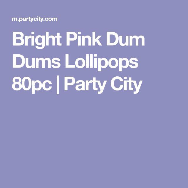 Bright Pink Dum Dums Lollipops 80pc | Party City