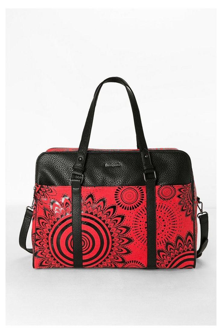 sac de voyage rouge desigual pinterest. Black Bedroom Furniture Sets. Home Design Ideas