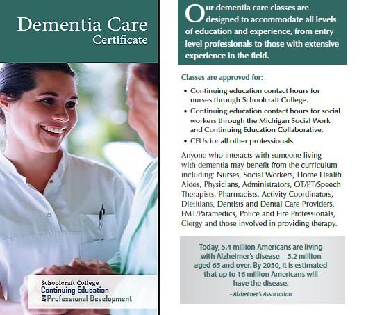 #CE #education #dementia #Michigan The Dementia Care Certificate is perfect for nurses, social workers, nursing home administrators who are looking for CE credits.