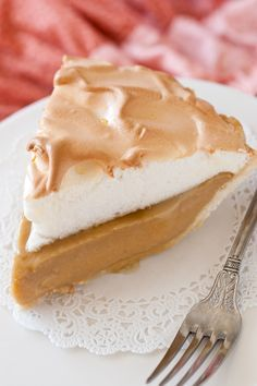 Old-Fashioned Brown Butter Butterscotch Pie- Follow #SightApp and save an entire article or recipe by 1 screenshot (Check How: https://itunes.apple.com/us/app/sight-save-articles-news-recipes/id886107929?mt=8