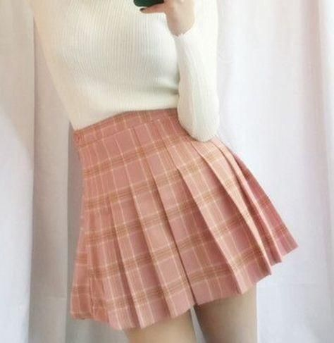 0dac1cb8ac itGirl Shop PLAID CUTE SCHOOL STYLE PLEATED SKIRT Aesthetic Apparel, Tumblr  Clothes, Soft Grunge, Pastel goth, Harajuku fashion.