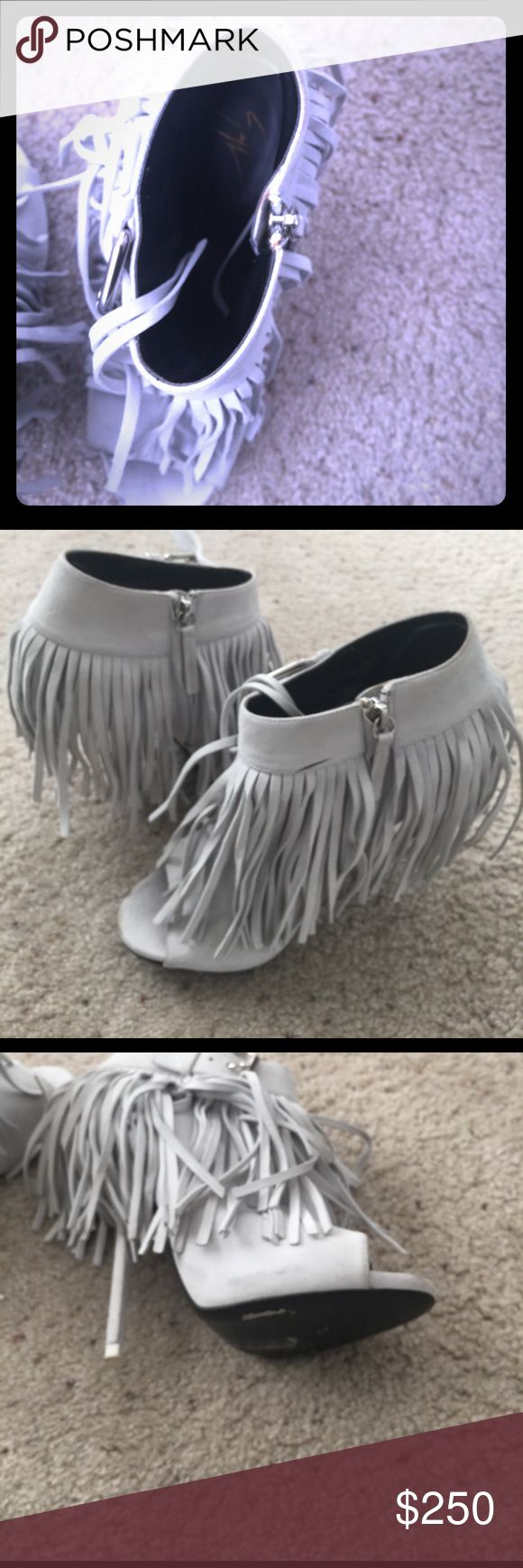 Giuseppe Zanotti design booties Only worn once in good condition.a few marks in the front that can be cleaned.its authentic Giuseppe zanotti design.runs half size small Giuseppe Zanotti Shoes Ankle Boots & Booties