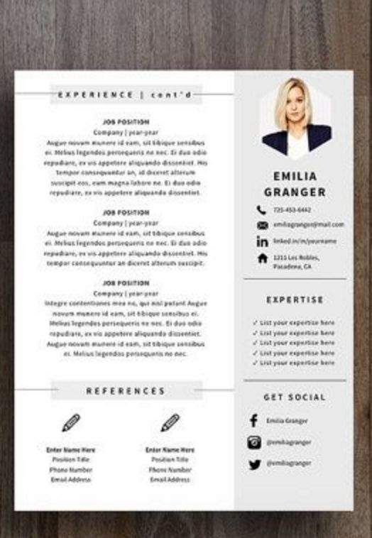 4 page professional resume template a4 and us letter